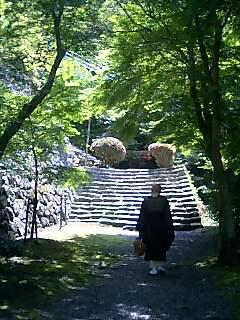 摠見寺の参道