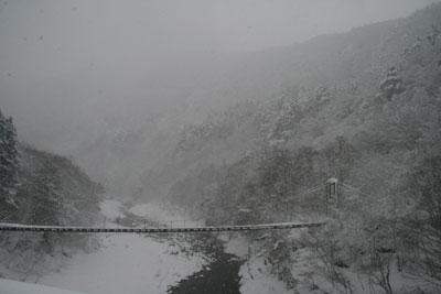 大雪の岐阜