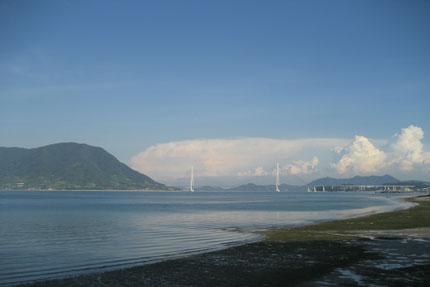 穏やかな四国の海