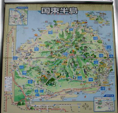 国東半島の地図