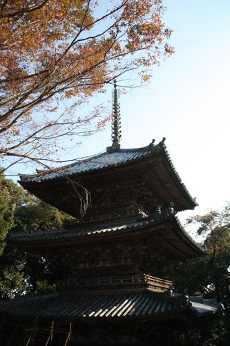 摠見寺の三重の塔