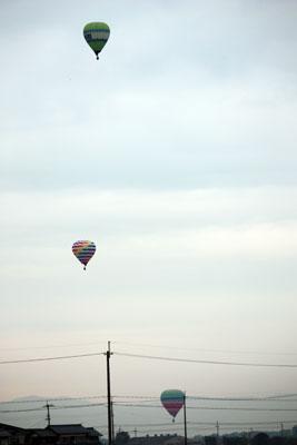 気球がいっぱい