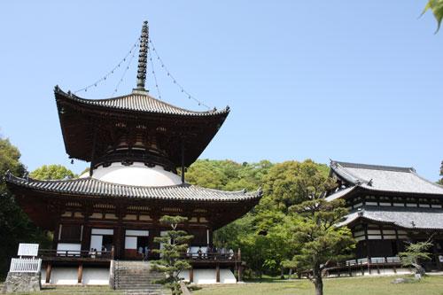 根来寺 大塔と伝法堂