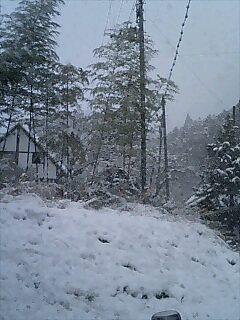 途中町の雪景色